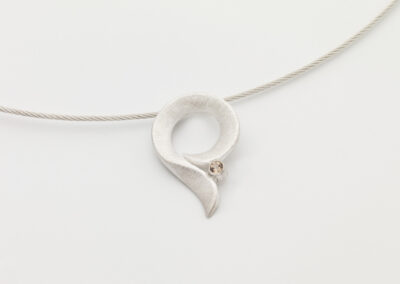 Pendant Tail with Topaz, 925 Silver