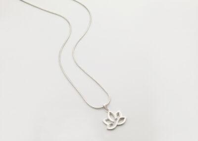 Pendant Lotus Blossom, 925 Silver