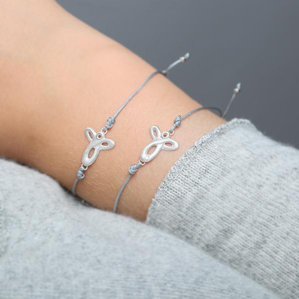 Armband Schutzengel und Armband Schutzengel mit Brillant, 925 Silber
