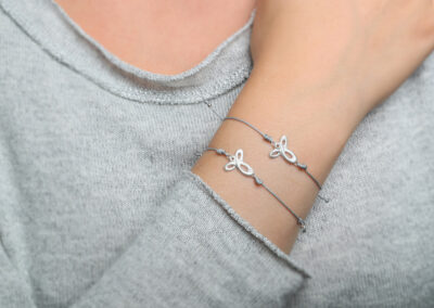 Bracelets Angel and Angel with diamond, 925 Silver