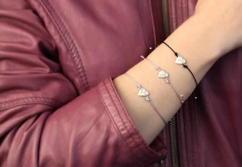 Armband Herz, 925 Silber