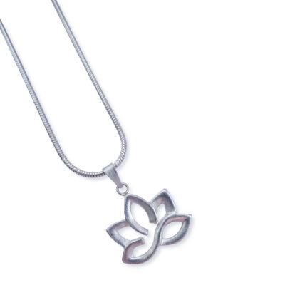 Anhänger Lotusblüte, 925 Silber