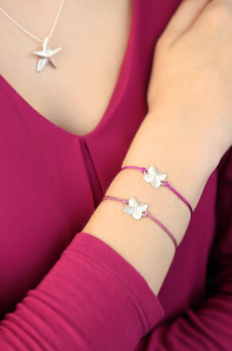 Armband Glücksklee, 925 Silber