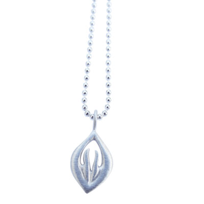 Namaste Anhänger Yoga Silber