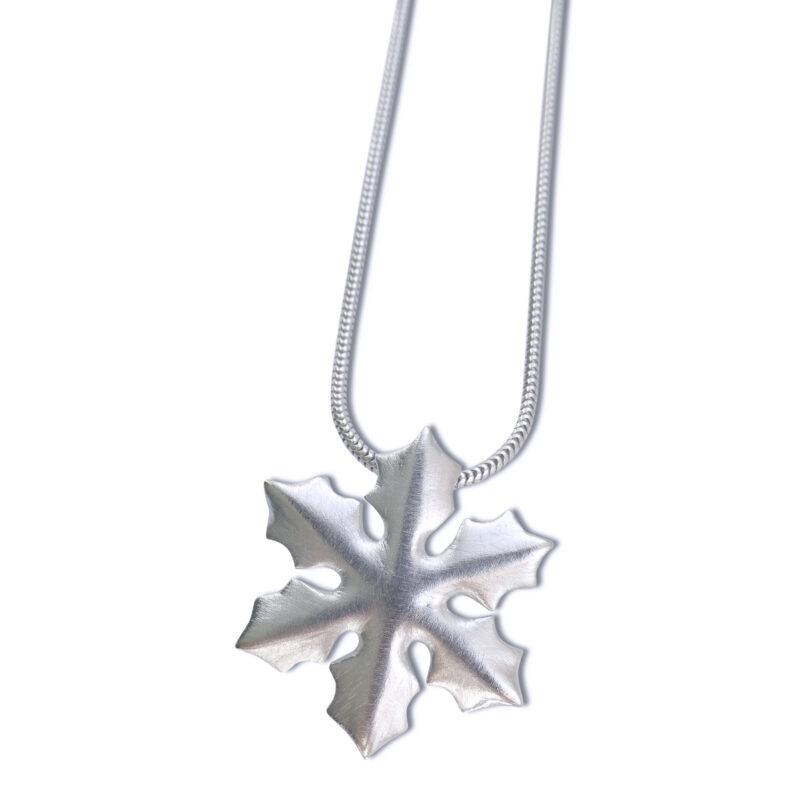 Anhänger Schneeflocke, 925 Silber