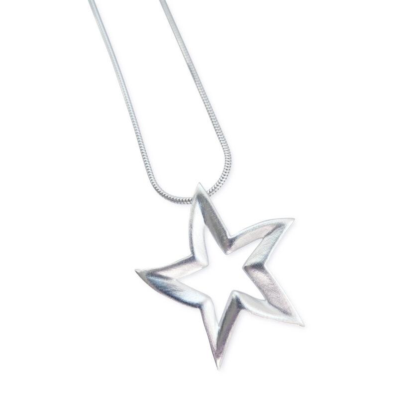 Anhänger Stern, 925 Silber