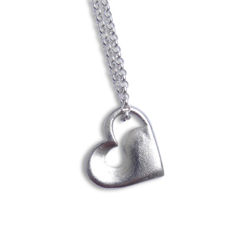 Herz Anhänger Welle Silber