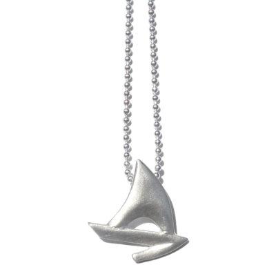 Segelboot Anhänger Silber